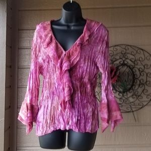 Agora - Dressy muted pinks top w/ sequins